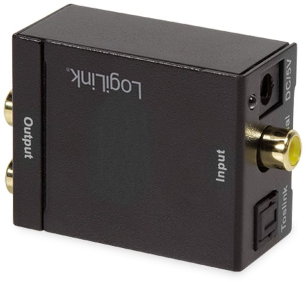 Audio-Konverter LOGILINK CA0101, Toslink/Koax zu Cinch/Klinke - Produktbild 3