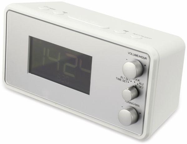 Uhrenradio, RW, weiß, B-Ware - Produktbild 2