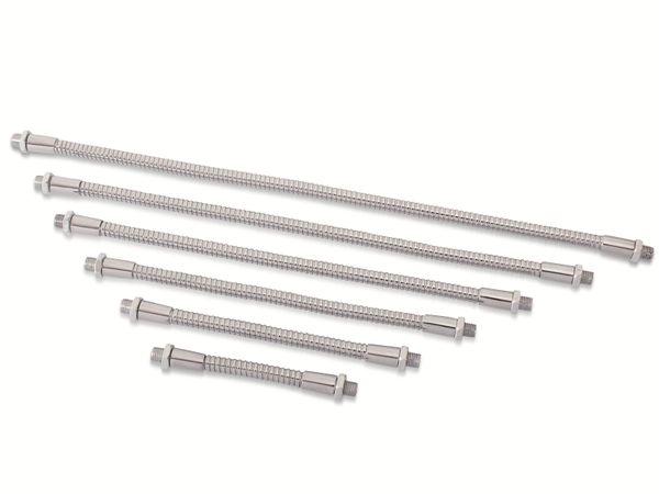 Schwanenhals 200 mm in Stahl- Chrom Ausführung, Gewinde M8x0,75 - Produktbild 2