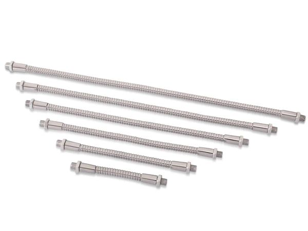 Schwanenhals 300 mm in Stahl- Chrom Ausführung, Gewinde M8x0,75 - Produktbild 2
