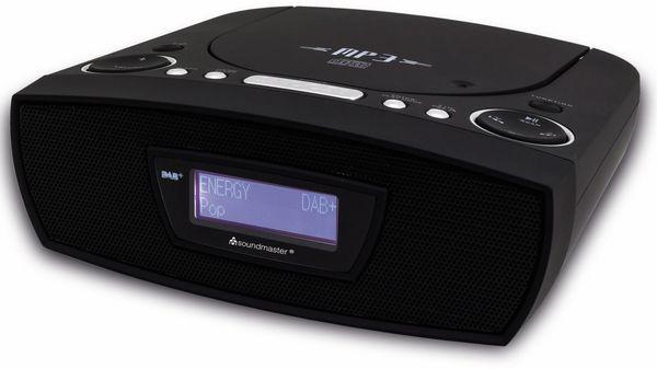 Radiowecker SOUNDMASTER URD480SW, DAB+, schwarz - Produktbild 1