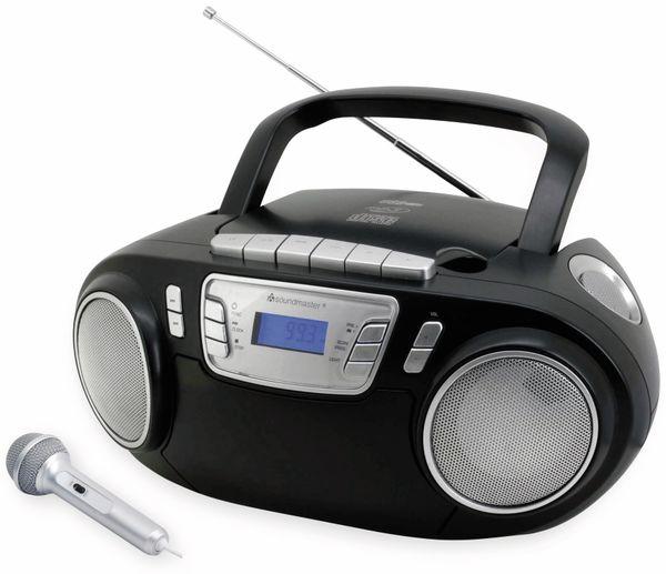 CD-Player SOUNDMASTER SCD5800SW mit Mikrofon, schwarz