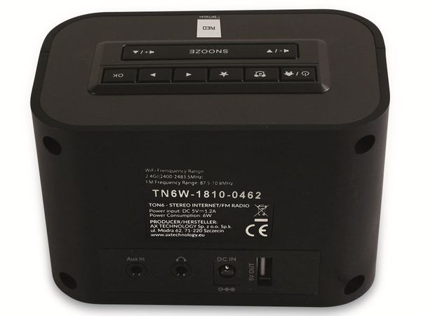 Internetradio OPTICUM Ton 6, schwarz - Produktbild 6