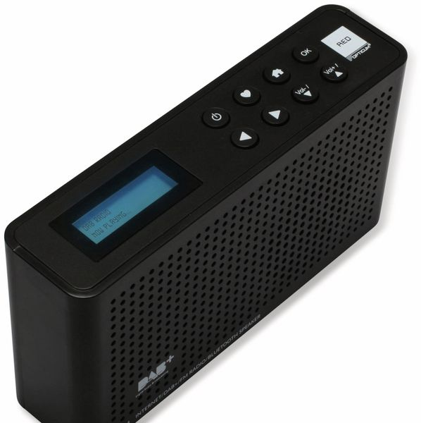 Internetradio RED OPTICUM Ton 4, schwarz, DAB+, Bluetooth, WLAN