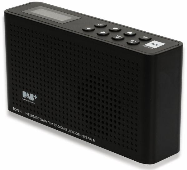 Internetradio RED OPTICUM Ton 4, schwarz, DAB+, Bluetooth, WLAN - Produktbild 3