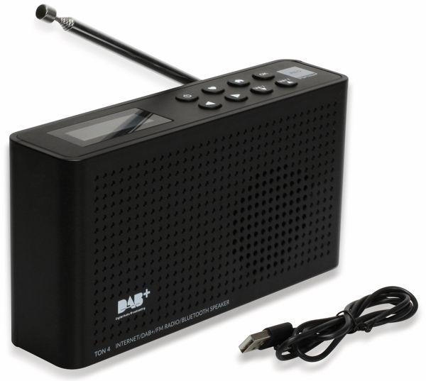 Internetradio RED OPTICUM Ton 4, schwarz, DAB+, Bluetooth, WLAN - Produktbild 7