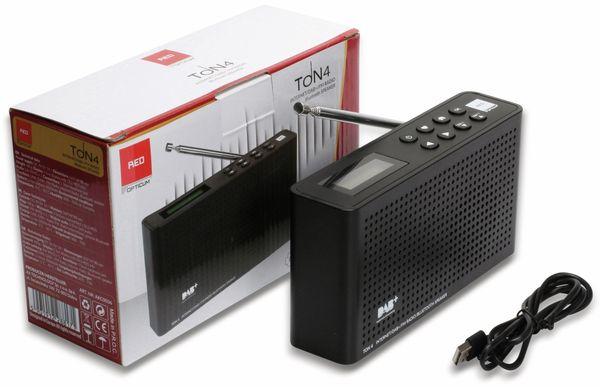 Internetradio RED OPTICUM Ton 4, schwarz, DAB+, Bluetooth, WLAN - Produktbild 8