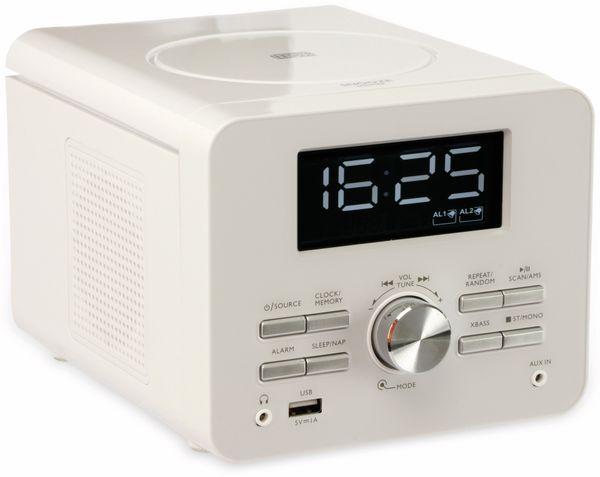 Uhrenradio CDR 274 mit CD-Player, weiß, B-Ware