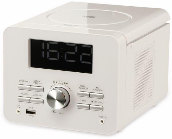Uhrenradio CDR 274 mit CD-Player, weiß, B-Ware - Produktbild 2