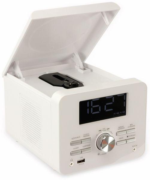 Uhrenradio CDR 274 mit CD-Player, weiß, B-Ware - Produktbild 3