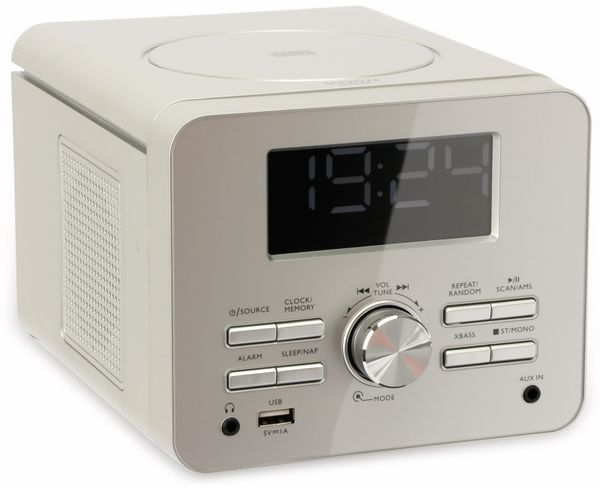 Uhrenradio CDR 274 mit CD-Player, silber, B-Ware