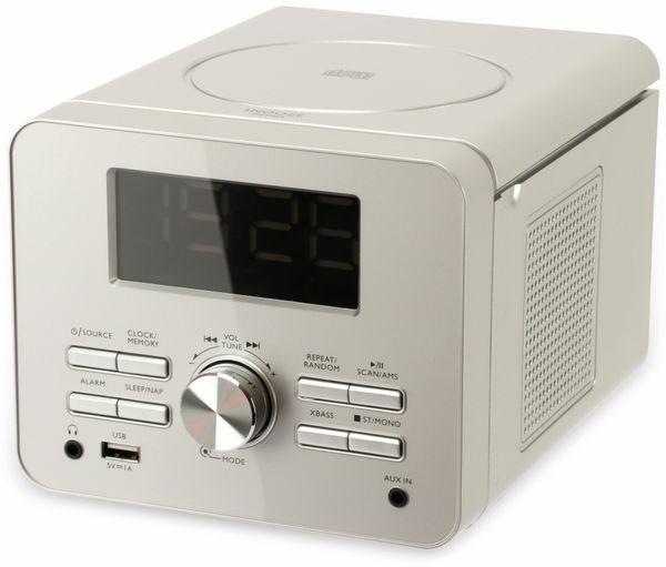 Uhrenradio CDR 274 mit CD-Player, silber, B-Ware - Produktbild 2
