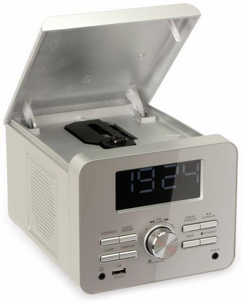 Uhrenradio CDR 274 mit CD-Player, silber, B-Ware - Produktbild 3