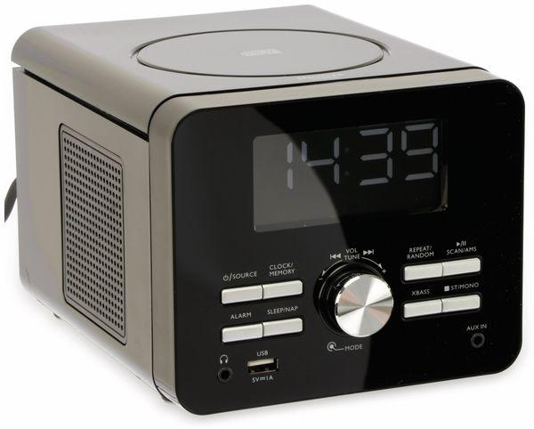 Uhrenradio CDR 274 mit CD-Player, schwarz, B-Ware