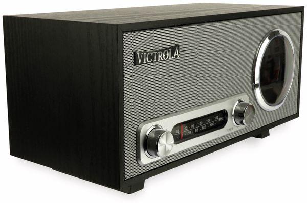 UKW Uhrenradio, VICTROLA VC-100, Bluetooth, schwarz/silber - Produktbild 2