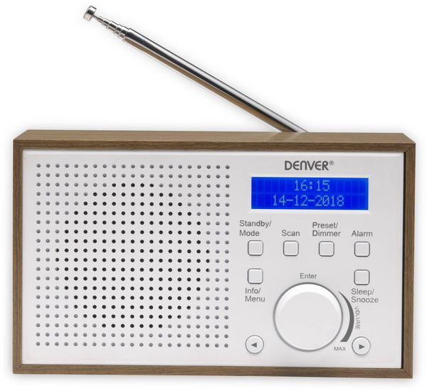 DAB Radio DENVER DAB-46, weiß - Produktbild 5