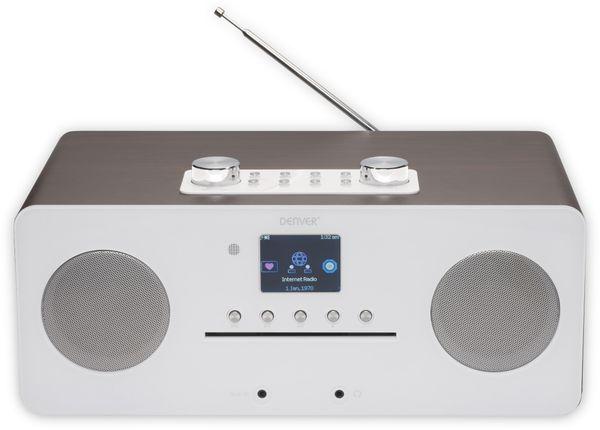 DAB+/Internetradio DENVER MIR-260, DAB+, Bluetooth, WLAN, weiß - Produktbild 2