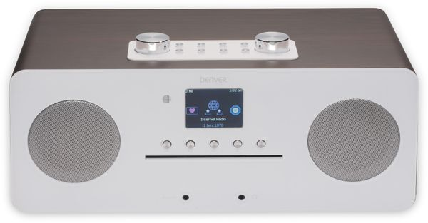 DAB+/Internetradio DENVER MIR-260, DAB+, Bluetooth, WLAN, weiß - Produktbild 4
