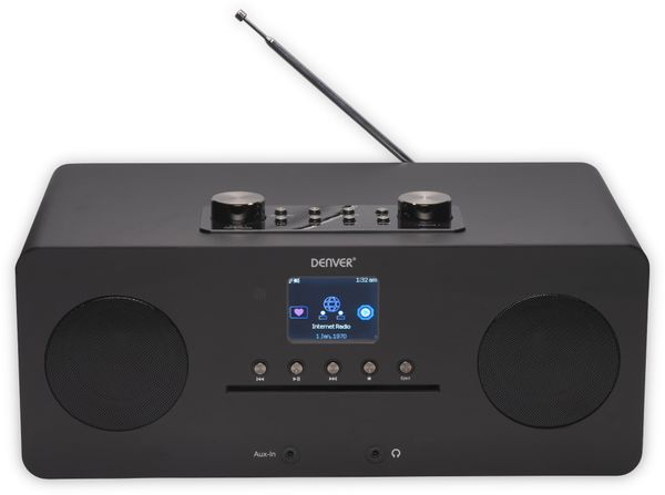 DAB+/Internetradio DENVER MIR-260, DAB+, Bluetooth, WLAN, schwarz - Produktbild 3