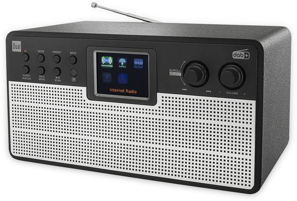 DAB+/Internetradio DUAL IR 100, schwarz/silber, DAB+, Wlan, Bluetooth