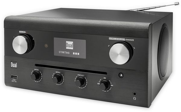 DAB Radio DUAL CR 900 Phantom, schwarz, DAB+, Wlan, Bluetooth