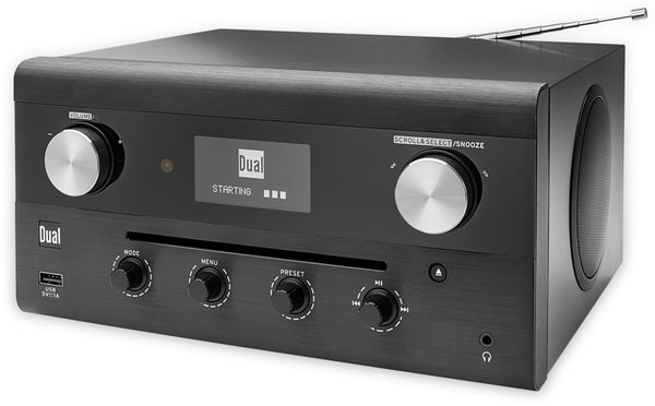 DAB Radio DUAL CR 900 Phantom, schwarz, DAB+, Wlan, Bluetooth - Produktbild 3