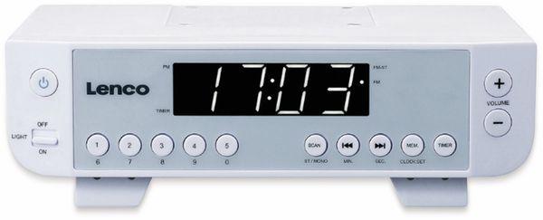Küchenunterbauradio LENCO KCR-11, UKW, weiß