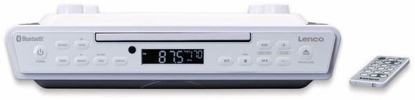 Küchenunterbauradio LENCO KCR-150, weiß, UKW, CD, Bluetooth