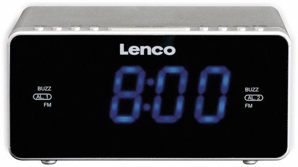 Radiowecker LENCO CR-520, silber