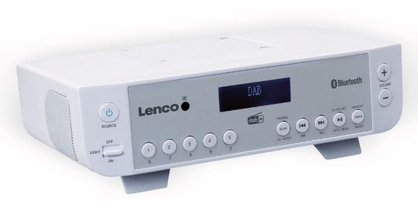 Küchenunterbauradio LENCO KCR-200WH, DAB+, Bluetooth, weiss - Produktbild 4