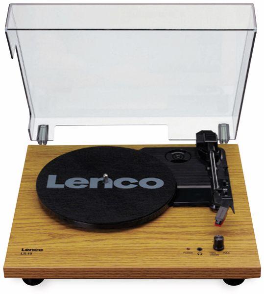 Plattenspieler LENCO LS-10, holzoptik, mit integrierten Lautsprechern