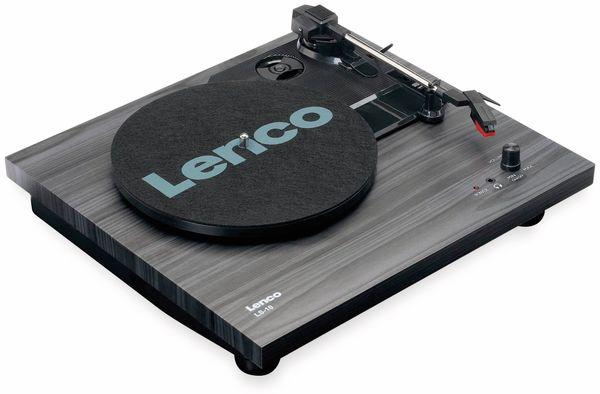 Plattenspieler LENCO LS-10, schwarz, mit integrierten Lautsprechern