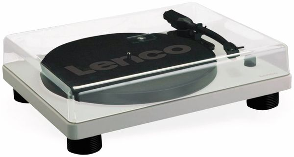 Plattenspieler LENCO LS-50, USB, grau, mit integrierten Lautsprechern - Produktbild 4