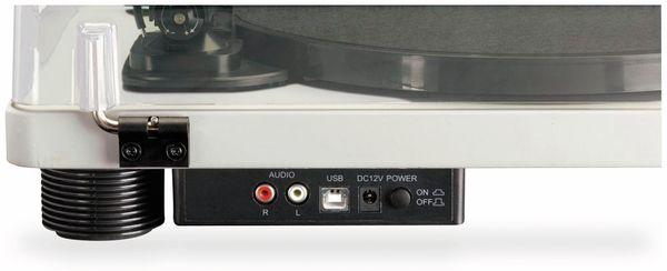 Plattenspieler LENCO LS-50, USB, grau, mit integrierten Lautsprechern - Produktbild 6