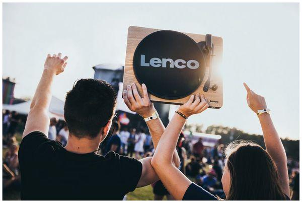 Plattenspieler LENCO LS-50, USB, holz, mit integrierten Lautsprechern - Produktbild 2