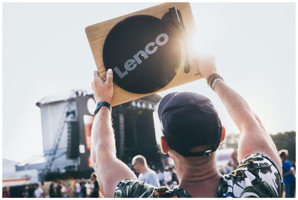 Plattenspieler LENCO LS-50, USB, holz, mit integrierten Lautsprechern - Produktbild 3