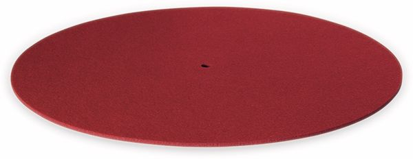 Plattentellerauflage DYNAVOX PM2, rot, Filz