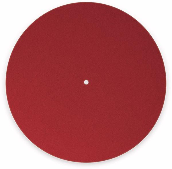 Plattentellerauflage DYNAVOX PM2, rot, Filz - Produktbild 2
