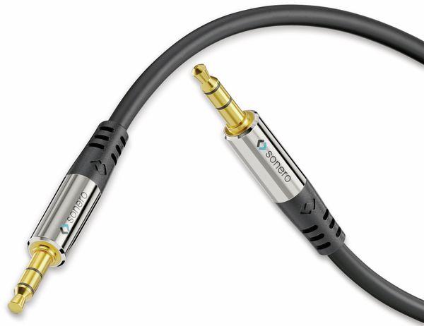 Klinkenkabel SONERO, 3,5 mm, Stereo, 2,00 m, schwarz - Produktbild 2