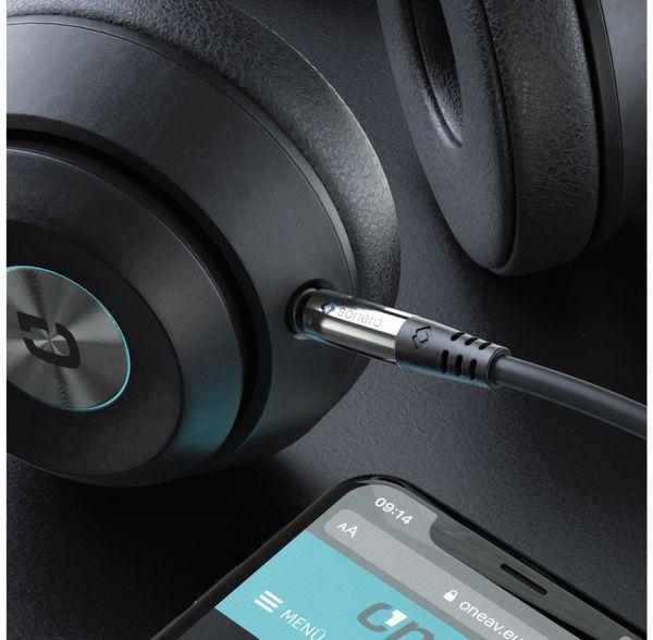 Klinkenkabel SONERO, 3,5 mm, Stereo, 5,00 m, schwarz - Produktbild 3