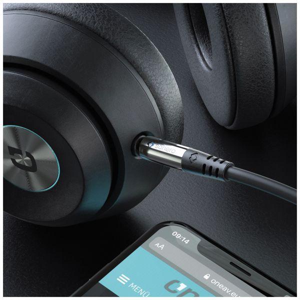 Klinkenkabel SONERO, 3,5 mm, Stereo, 7,50 m, schwarz - Produktbild 3