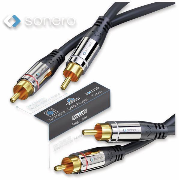 Cinchkabel SONERO, Stereo, 1,0 m, schwarz - Produktbild 3