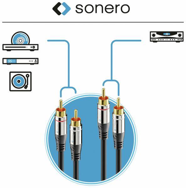 Cinchkabel SONERO, Stereo, 1,0 m, schwarz - Produktbild 5