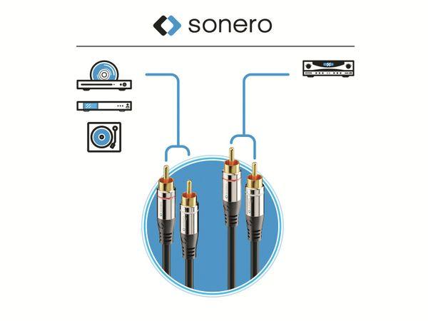 Cinchkabel SONERO, Stereo, 1,0 m, schwarz - Produktbild 4