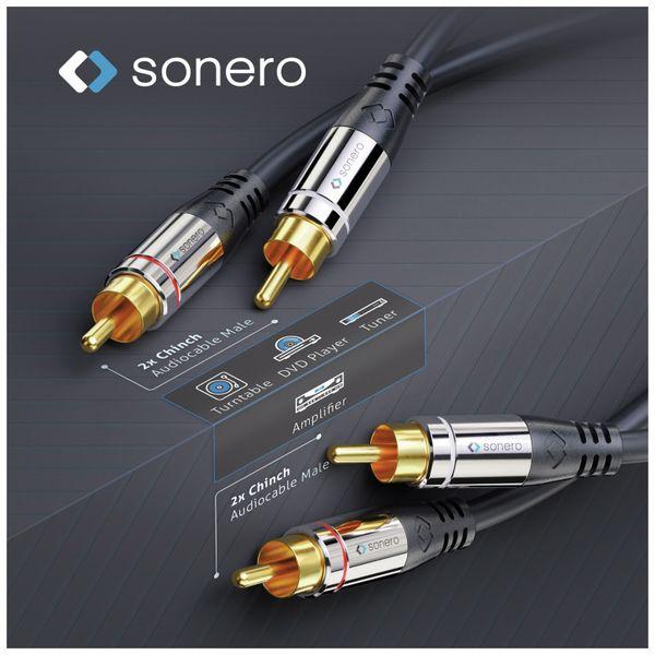 Cinchkabel SONERO, Stereo, 7,50 m, schwarz - Produktbild 3