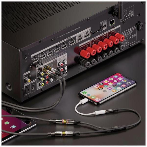 Audioadapter SONERO, 0,20 m, Klinkenstecker auf 2x Cinchbuchse - Produktbild 3