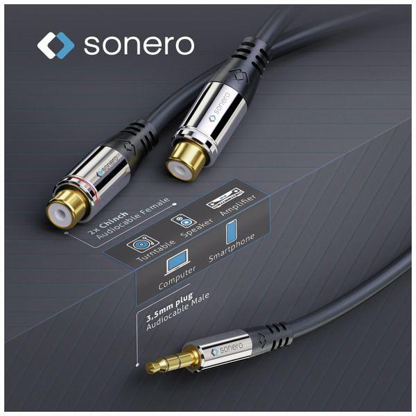 Audioadapter SONERO, 0,20 m, Klinkenstecker auf 2x Cinchbuchse - Produktbild 4