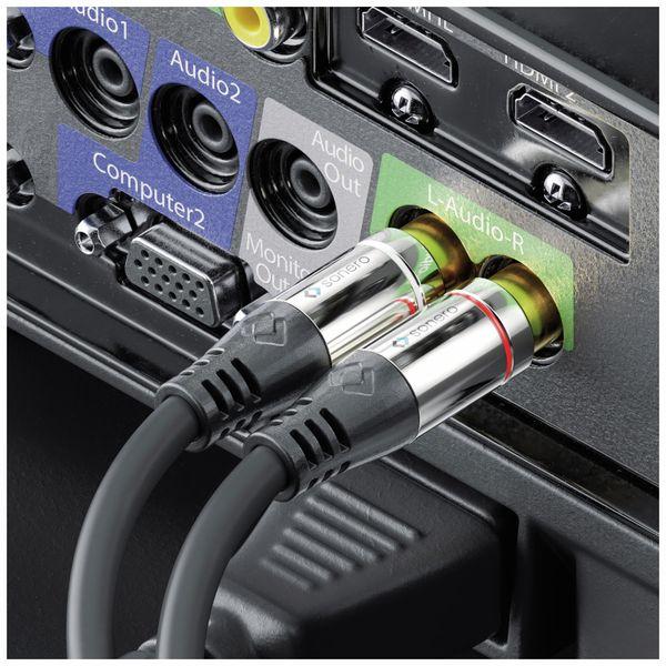 Audioadapter SONERO, 0,20 m, 2x Cinchstecker auf Klinkenbuchse - Produktbild 3