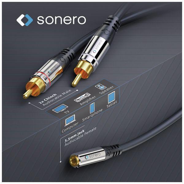 Audioadapter SONERO, 0,20 m, 2x Cinchstecker auf Klinkenbuchse - Produktbild 5