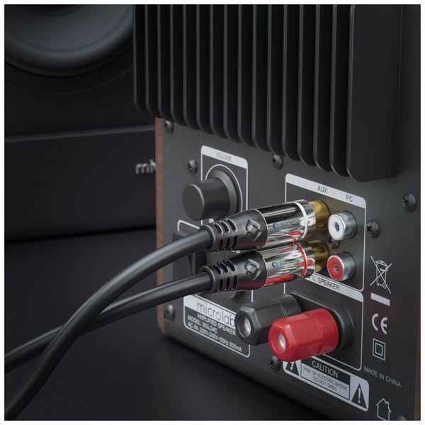 Audioadapter SONERO, 0,20 m, 2x Cinchstecker auf Cinchbuchse - Produktbild 3